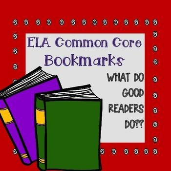 ELA Common Core Bookmarks K-5