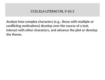 English Language Arts Common Core Standards to Print and Display 9-10