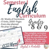 English/Language Arts Complete Semester 1 Curriculum for G