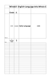 English Language Arts Curriculum Mapping Template 2nd grade