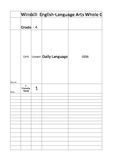 English Language Arts Curriculum Mapping Template 4th Grade