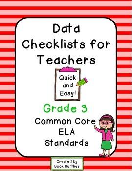 Data Checklists Common Core Grade 3 Teachers