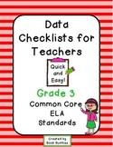 Common Core Data Checklists Grade 3 Teachers