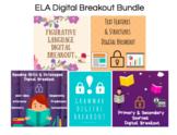 Distance Learning: English Language Arts Digital Breakout / Escape Room Bundle