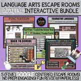 English Language Arts Escape Rooms: DIGITAL Interactive Bundle