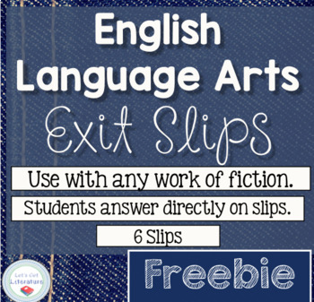 Literature Fiction Exit Slips FREEBIE