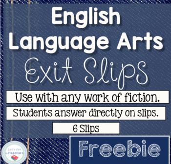 Literature Fiction Exit Slips FREEBIE