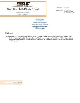 English Language Arts Grade 8 syllabus