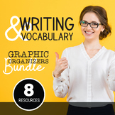 English Language Arts Graphic Organizers Bundle: Writing and Vocabulary