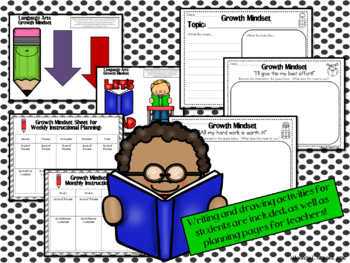 English Language Arts Growth Mindset Posters and Writing Activities