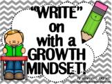 English Language Arts Growth Mindset Posters and Writing A