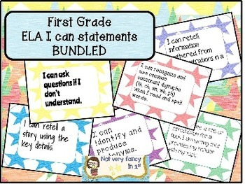 I Can Statements--ELA BUNDLE--for First Grade