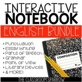 ELA Interactive Notebook Activities BUNDLE (essay, grammar, punctuation, etc.)