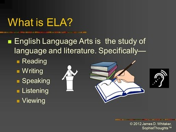 English Language Arts Introduction PowerPoint Common Core