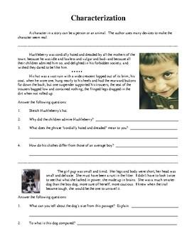 English Language Arts Literary Skills, Activities and Worksheets