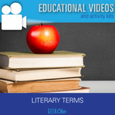 Distance Learning & In Class ELA Literary Terms DIGITAL VI