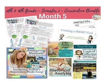 English/Language Arts Complete Semester 2 Curriculum for Grades 8 & 9