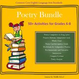 English Language Arts - POETRY BUNDLE - 50+ Activities for Grades 6-8