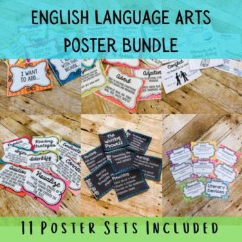 English Language Arts Poster Bundle