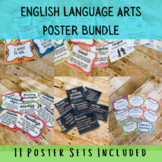 English Language Arts Poster Bundle- Middle School Classroom Decor