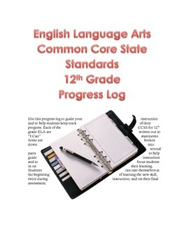 English Language Arts Progress Log 12th Grade Common Core