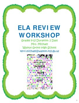 English Language Arts Review Workshop (9-12)
