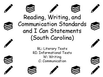 English Language Arts Standards and I Can Statements (South Carolina)