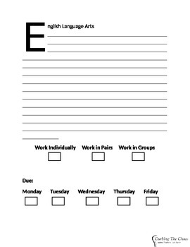 English Language Arts Substitute Lesson Plan Form