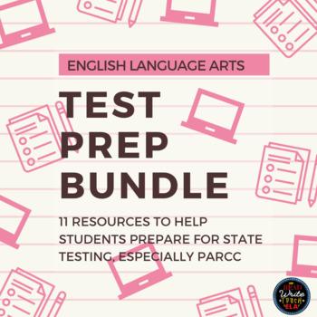English Language Arts Test / PARCC Prep BUNDLE: Grades 4-9