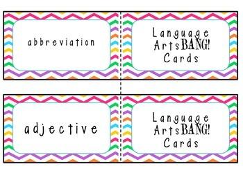 English Language Arts Test Vocabulary BANG! Cards