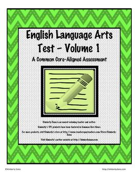 English Language Arts Test - Volume 1