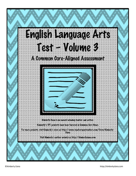 English Language Arts Test - Volume 3