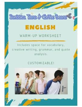 English Language Arts: Warm- Up