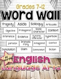 FREE ENGLISH LANGUAGE ARTS WORD WALL FOR GRADES 7-12