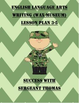 English Language Arts Writing and making a Wax Museum