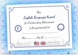 English Language Award Certificate