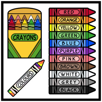 English Language Crayons (High Resolution)