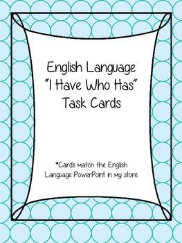 English Language (Figurative Language) I Have...Who Has Cards