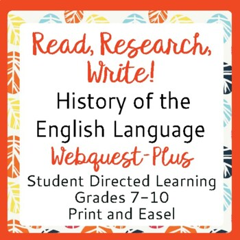 English Language History: Reading, Researching and Writing Activities Gr 7-10