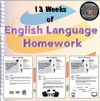 English Language Homework - 13 Weeks - Grades 5 and 6
