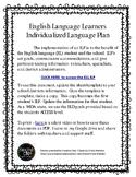 English Language Leaner Individualized Language Plan template