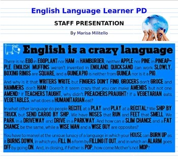 English Language Learner Staff PD Presentation (editable)