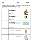 English Language Learner Vocabulary Log (Science Tools)
