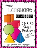English Language Learners 2D & 3D Shape Posters