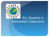 English Language Learners (ELL/ ESL) in Mainstream Classrooms Presentation