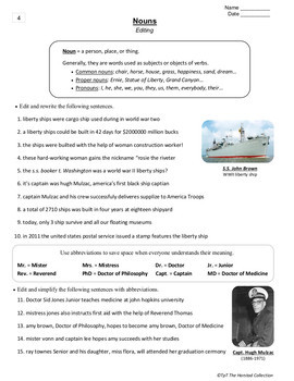 English Language Learners Worksheets: 35 Editing Worksheets & E-book