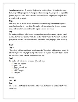Sequencing and Facts and Opinions Lesson Plan