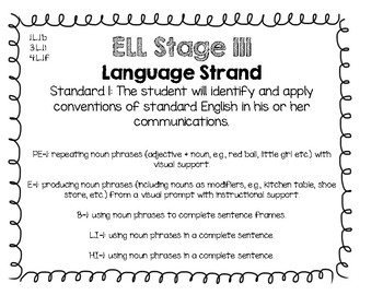 English Language Proficiency Language Standards