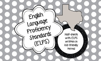 English Language Proficiency Standards (ELPS), Kid Friendl