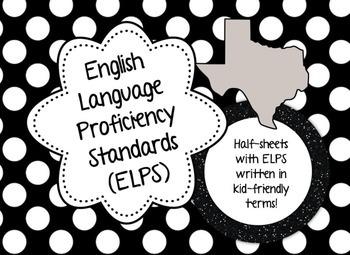 English Language Proficiency Standards (ELPS), Polka Dot, Kid Friendly